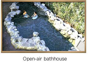 Open-air bathhouse