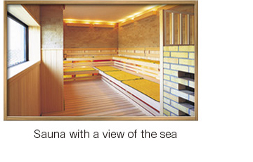 Sauna with a view of the sea