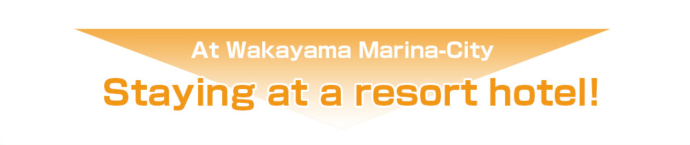 At Wakayama Marina-City Staying at a resort hotel!